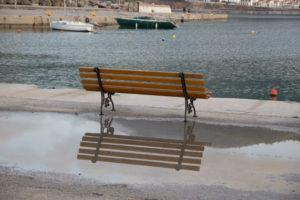 Bench-reflection Skopelos