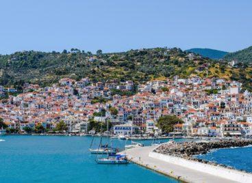 Skopelos island Greece, Chora port