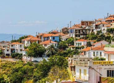 Glossa The second-largest settlement of Skopelos island